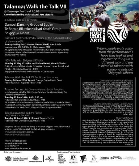 Talanoa flyer May 2010